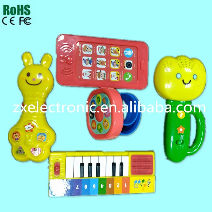 Colorful led light sound toy with smile face for kids gift&education