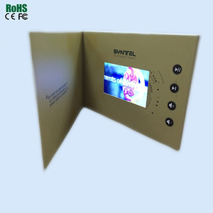 Promotional lcd video brochure card/video brochure