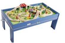 100PCS Wooden Train SetS