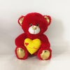 Red Valentines Bears with Yellow Heart in Hand for promotion