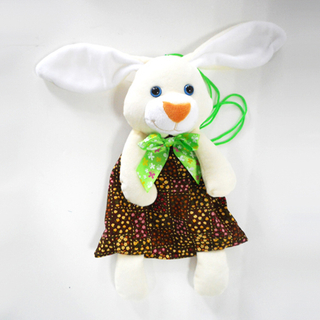 Cheap Promotional White Rabbit Shaped Easter Candy Bag