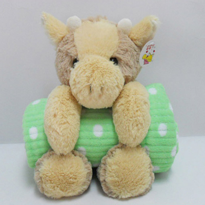 Stuffed Soft Plush Bull Toy Baby Blanket