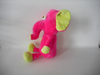 Cute Cartoon 3D Big Eyes Pink Elephant Plush Toy