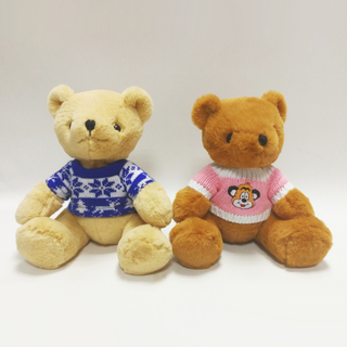 Super Soft Rabbit Fabric Teddy Bear Toys with Sweater