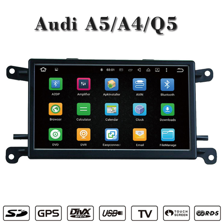 Android 7.1 for Audi A4 / Q5 / A5 car videos gps Navigatior wifi connection