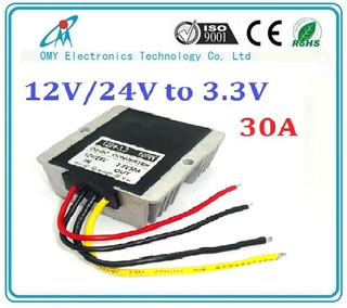 1224V drop to 3.3V 15A 20A 25A 30A step down Aluminum alloy shell IP65 waterproof dc dc converter power converter