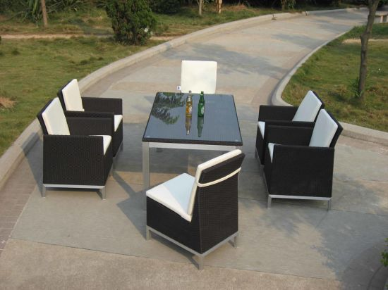 Outdoor Furniture Poly Rattan Sofa Dining Set