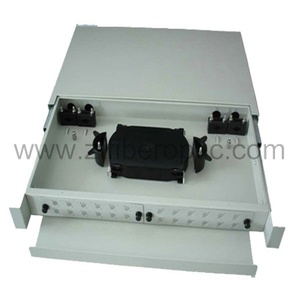 Cold Rolled Steel Rack Mount Fiber Optic Patch Panel