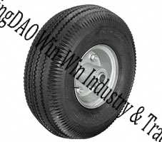 "Pneumatic Rubber Wheel with Steel Rim (10""X4.10/3.50-4)"