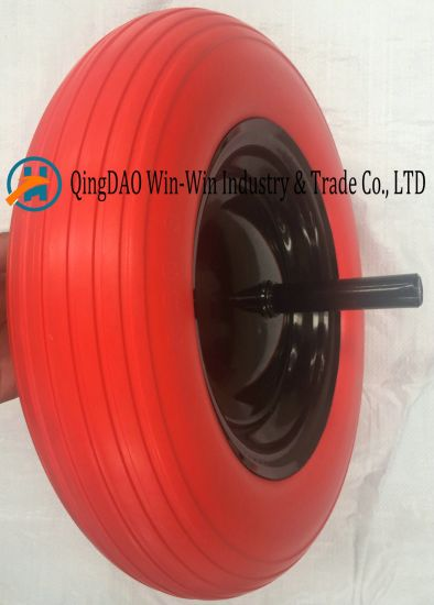 PU Wheels with Solid Axle 20X240mm (3.50-8)