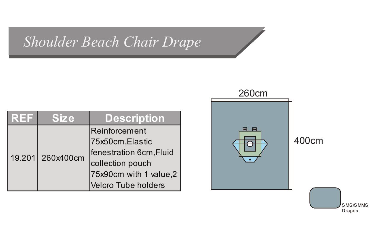 shoulder beach chair drape