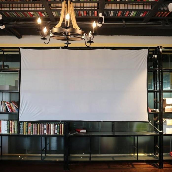 Eyelets projector screen Customize size projection screen