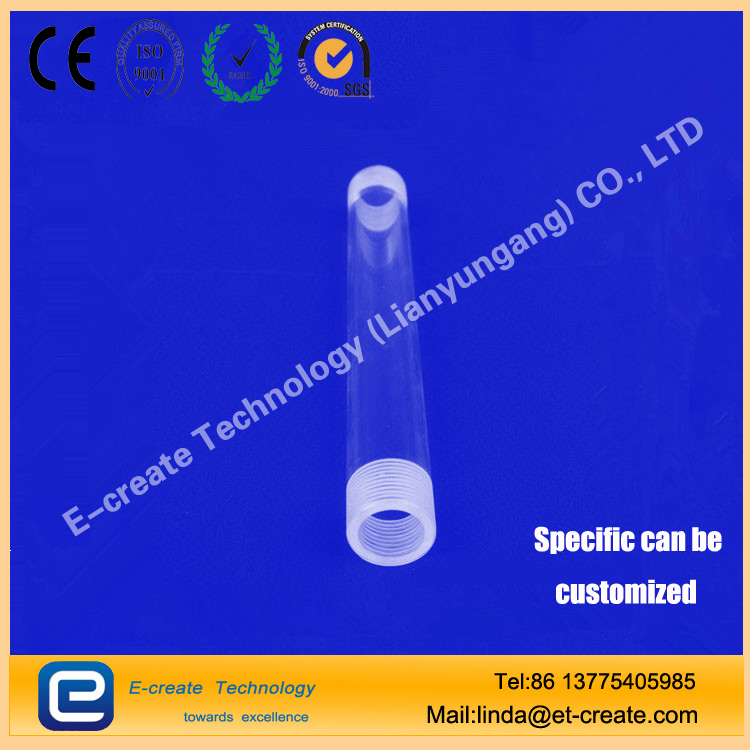 Quartz glass screw bottle sampling bottle quartz glass sealed tube high temperature through the UV custom