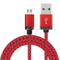 USB2.0 Leather Braided V8 Charging Data Cable with Appearance Patent