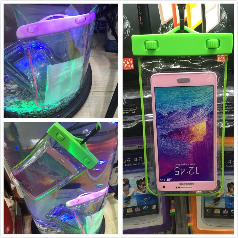 Colorful Waterproof Phone Cover Bag Universal for 5.5 Inches