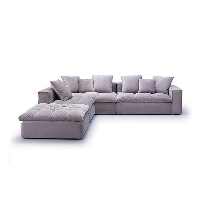 Micro Cream Fabric Sofa Online