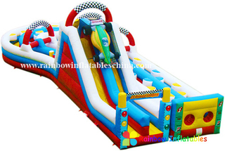 RB5001(7x17x5.5m) Inflatable Long Obstacle Course/Inflatable Obstacle with Slide