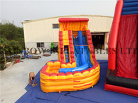 RB6083(4.5x7m) Inflatable Water Slide with Swerved Slide Pool