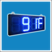 12 Inches Outdoor LED Time & Temperature Digit Clock