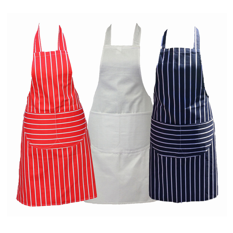 Chefs Apron 100% Cotton Catering with Bib Pockets Cooking BBQ