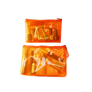 Orange Clear Bag Clear Cosmetic Bag