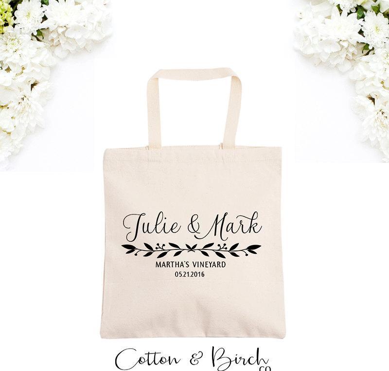 個人化された結婚のトートバックの結婚式ゲスト袋は歓迎された袋のギフトの考え花嫁党ギフトを個人化した
