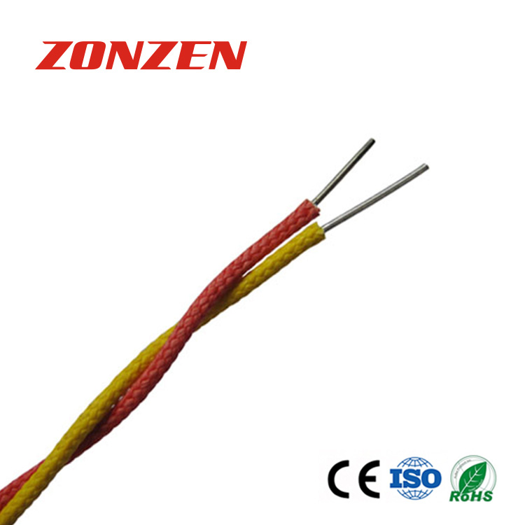 High temperature fiberglass insulated twisted pair thermocouple ...