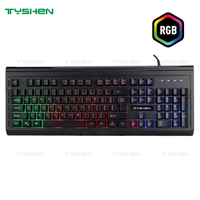 RGB Gaming Keyboard,8 Mode of Lighting,19 Keys No Ghosting, Key Letter Engraved,2021 New Model