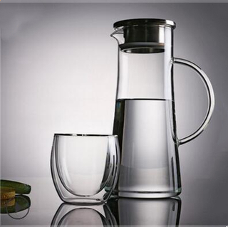 Decanters,galss decanters with stainless steel lid on top,made of heat-resistant glass,food grade