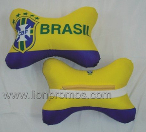Football Game Souvenir Gift Logo Embroidery Seat Head Rest Cushion