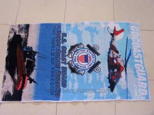 "Beach Tourism Souvenir Gift 30*60"" Cotton Velvet Beach Towel"