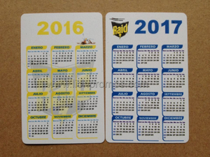 SC Johnson RAID Logo Events Giveaways 2016-2017 Card Calendar