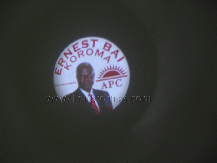 African Country Public Campaign Electional Gift Promotional Projector Torch