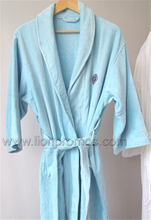 Women Hotel/Resorts Cotton Velvet Toweling Bathrobe