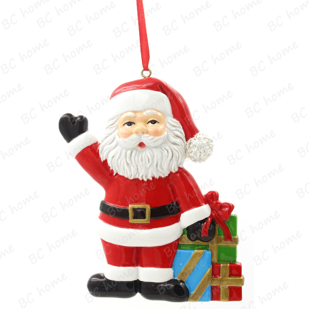 santa claus with gifts ornament personalized christmas tree ornament - Santa Claus Christmas Decorations