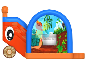 commercial inflatable combo snail animal theme combo for kids