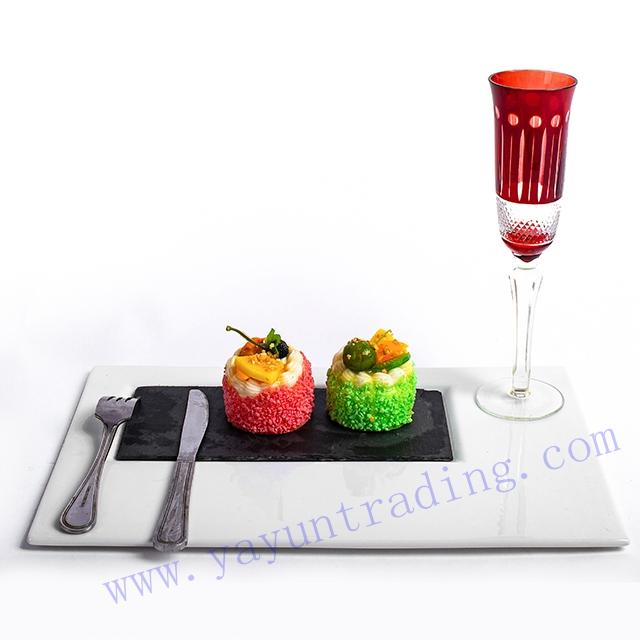 copper red champagne glass