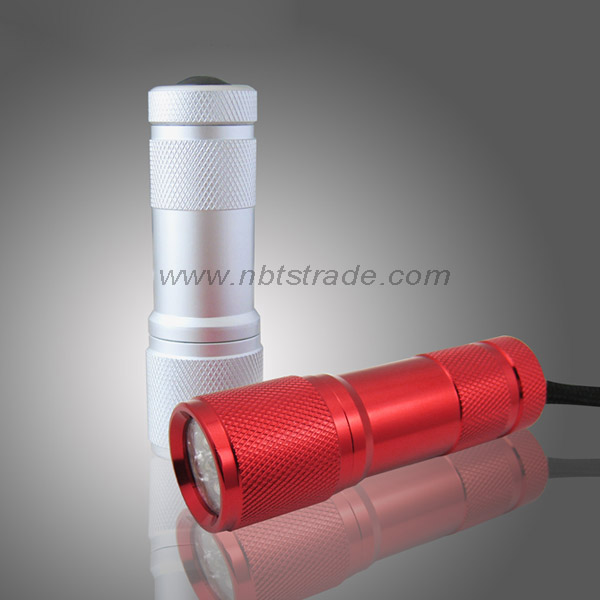 9 LED Aluminum Alloy Torch with Lanyard