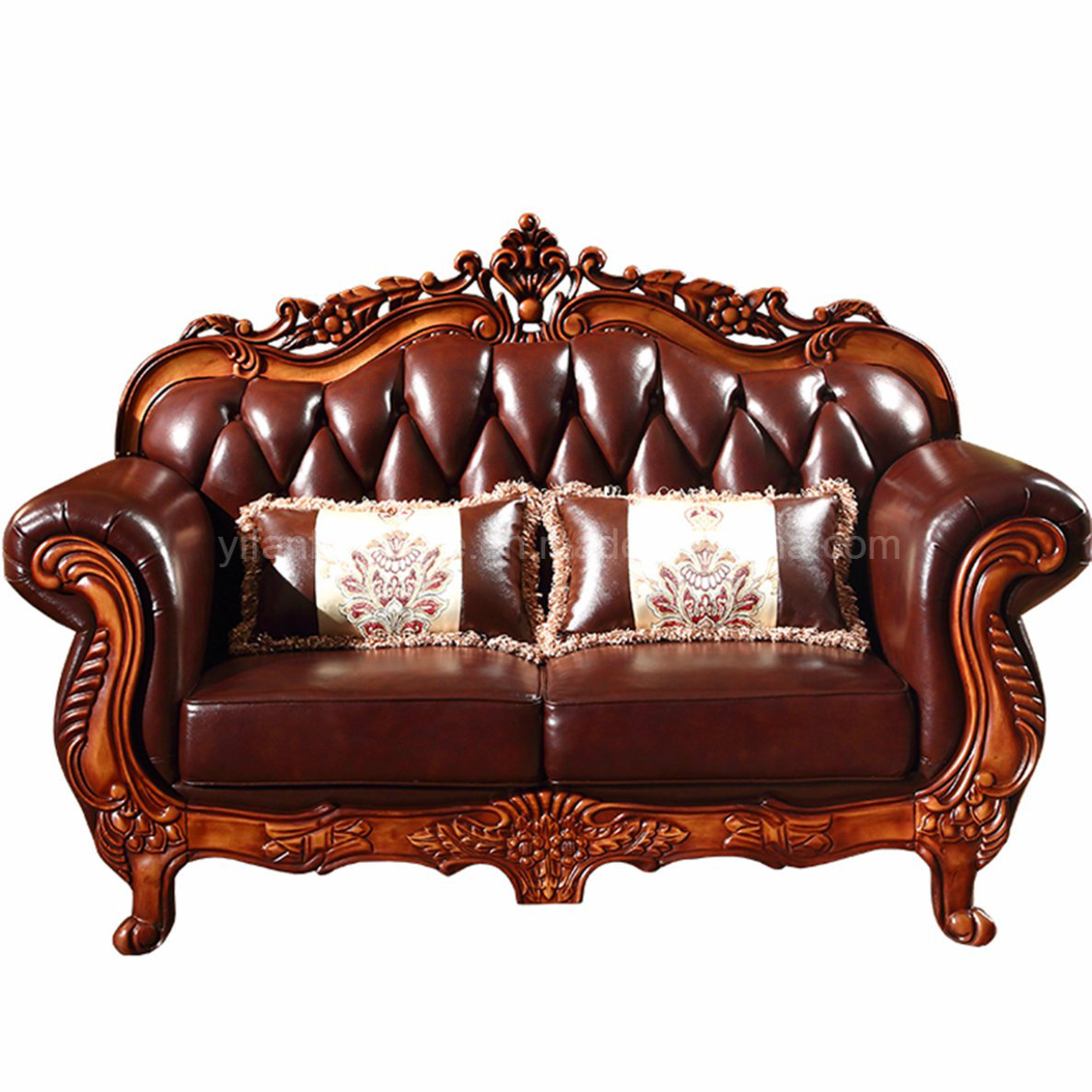 Classic Leather Sofa for Living Room Furniture
