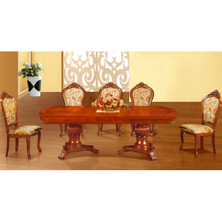 Wood Dining Table with Dining Chair for Home Furniture (H808)