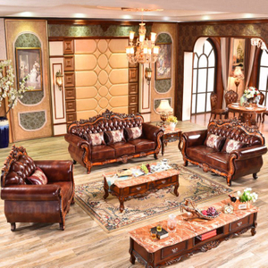 929S Leather Sofa for Living Room Furniture