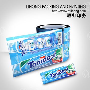 Aluminum Auto Packing Film for Tooth Paste