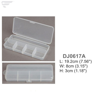 DJ0617A/B/C Clear box 5 Compartment Fishing Lure Box