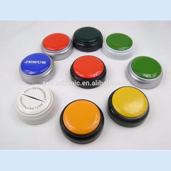 Programmable sound and light buzzer game buzzer sound button for