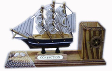 Pen Holder with Ship