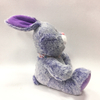 Fashion Novelty Purple Rabbit with Bow Tie Plush Kids Toy