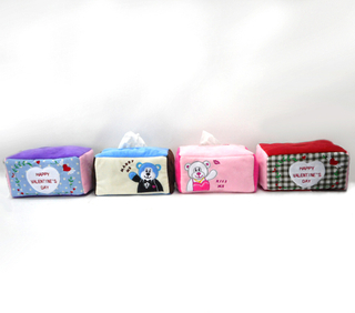 Creative Cute Soft Plush Tissue Box Cover Holders Stuffed Tissue Box