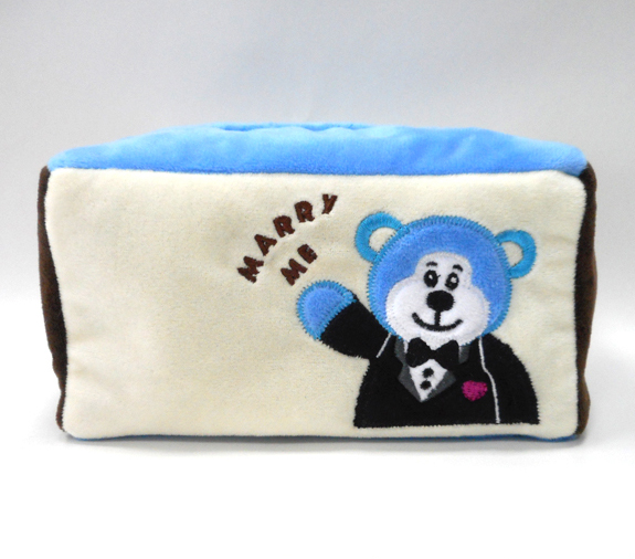 Cartoon Paper Towel Box Tissue Cover Plush Paper Box Cover
