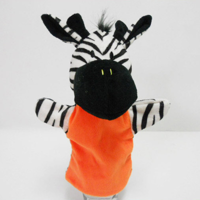 Plush Soft Toy Zebra Hand Puppet for Kids