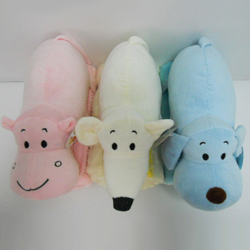 "11 "" Plush Stuffed Animal Shaped baby super soft Blanket"